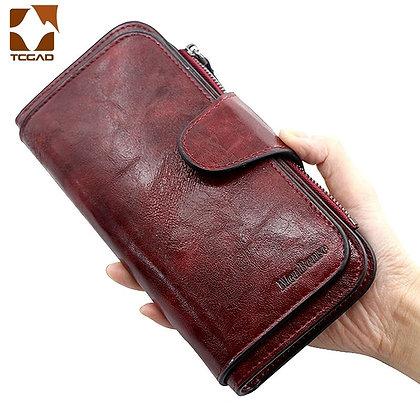 Leather / Three Fold VINTAGE Purses at Googoostore
