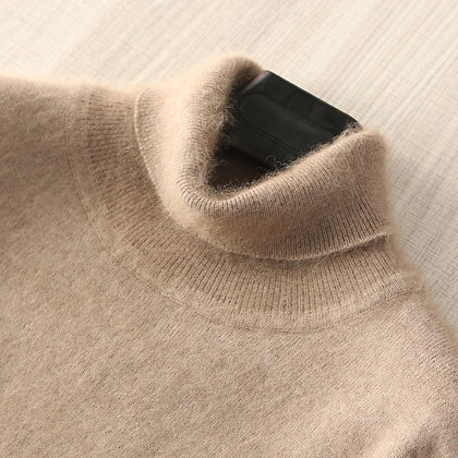 100% Mink Cashmere Knitted Sweaters / Soft Turtleneck Warm Jumpers / 8 Colours