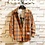 Thumbnail: Brand Cotton Red Plaid Casual Shirt Men Military Style / Autumn Long Sleeve
