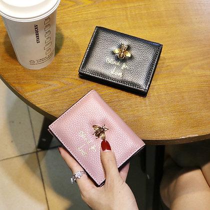 Genuine Leather Bee Money Design Purse - GooGooStore