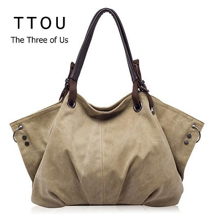Canvas Handbags Retro Large Capacity Stylish Casual /Classic Solid Totes TTOU