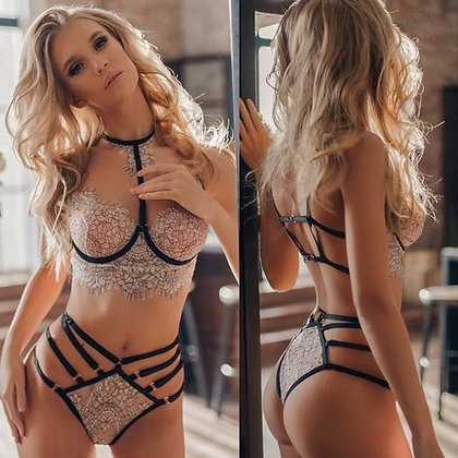 2019 New Hot Sexy Lingerie Women Sexy Lace Embroidery Lingerie Set