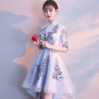 Banquet Party Evening Dress / Elegant Embroidery Evening Dress