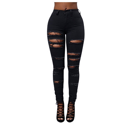 Summer Ripped Jeans / High Waisted Jeans Plus Size Jeans Vintage