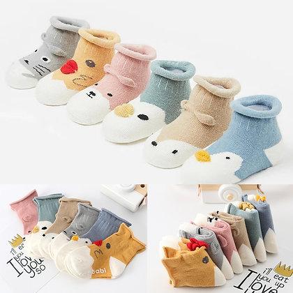 Winter Warm  Animal Cartoon Anti-Slip Socks / Slippers