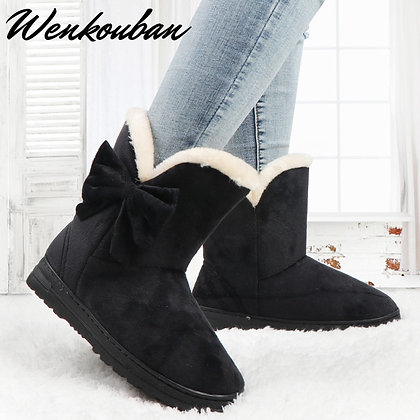 Platform Butterfly - Warm Ankle Boots