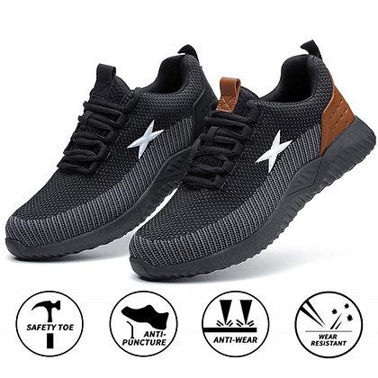 Steel Toe Cap Work Boots /Breathable Mesh Sport Shoes Plus Size
