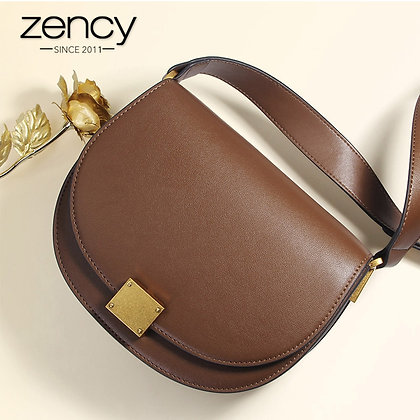 Zency Soft Cowhide Leather Retro / Crossbody Bag High Quality Elegant  Date bag