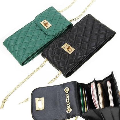 Genuine Leather Fashion Designer Phone Purse Mini Shoulder Bag Quality Sheepskin