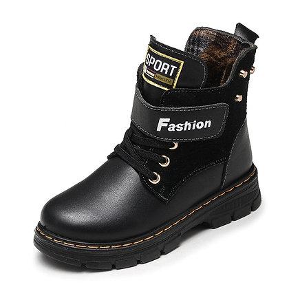 Genuine Leather Kids Martin Boots School /Waterproof Shoes
