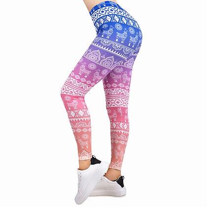 Hot Sales Women Legging Gradient Printing Leggins Slim High Elasticity Leggings