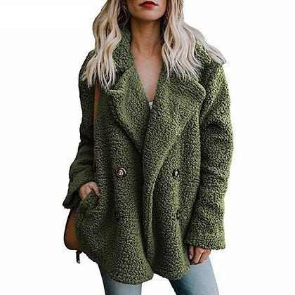 Plush Coat Women Winter Jackets Fluffy Teddy Coat Female Warm Artificial Fleece
