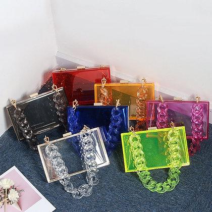 Transparent Acrylic Clutch Bags / PVC Clear Box Purse