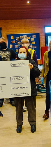 The big cheque meant that we were 2m away!