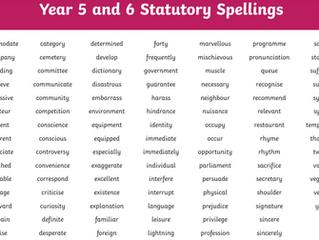 Y5/6 Spelling blog