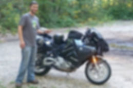 Coustomer Eli stading with BMW F 800ST