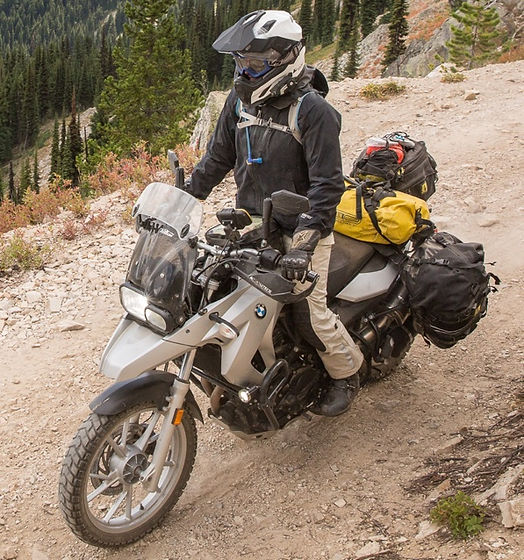 F650GS mountain pass