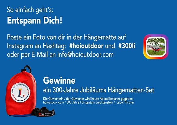Liechtenstein-Weg Hoi Hängematten Fotowettbewerb