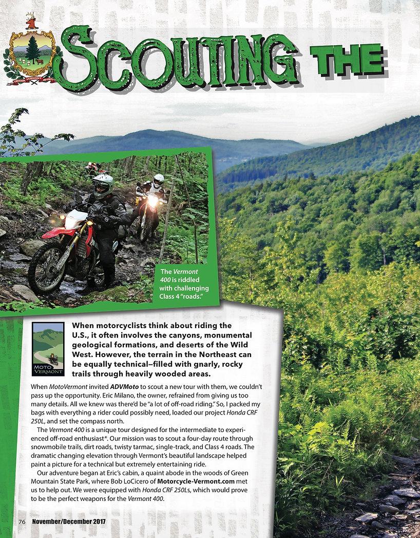 ADV Moto Magaine Vermont 400