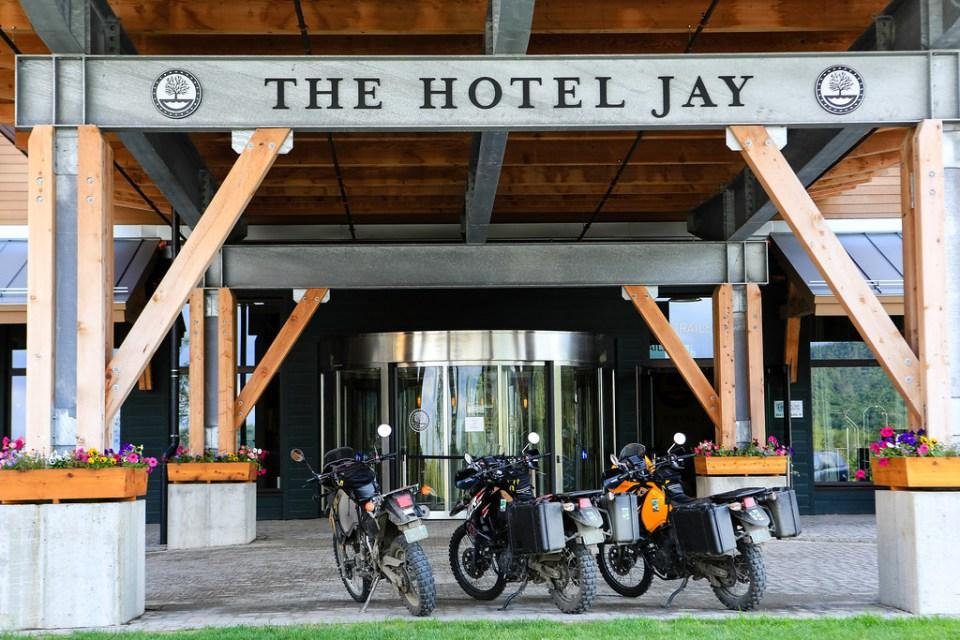 Jay Peak Hotle in Vermont with KLR 650's