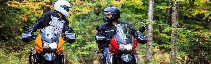 Camping beside motorbikes
