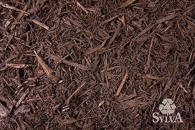 dark brown shredded wood fiber