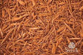 Golden orange shredded fiber mulch
