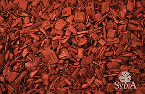 bright red square chips for landscape mulch