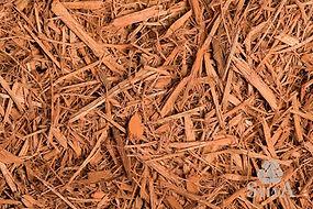 cedar toned shredded wood fiber landscaping mulch