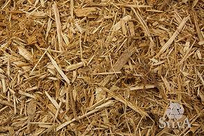 Blonde toned brown shredded cypress fiber mulch