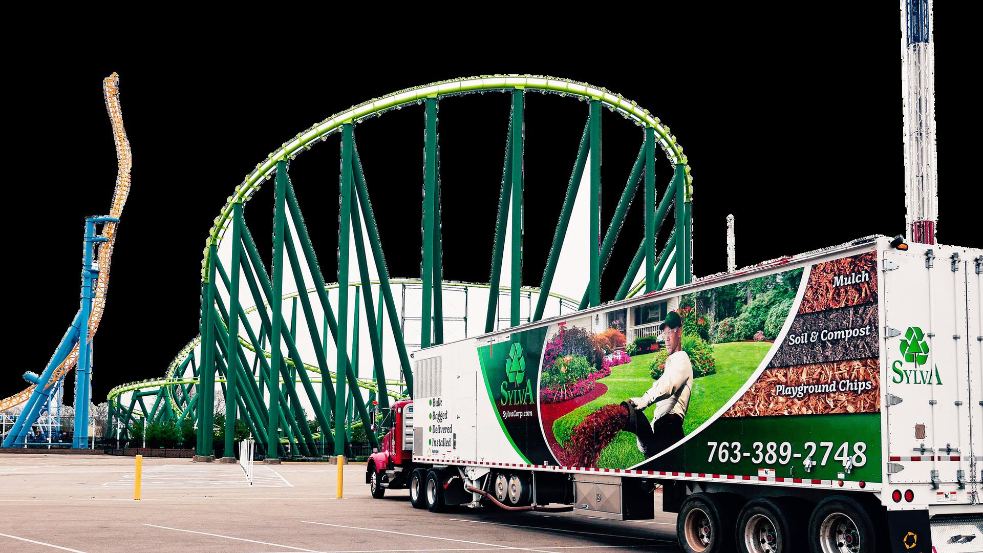 mulch-installation-truck-amusement-park.
