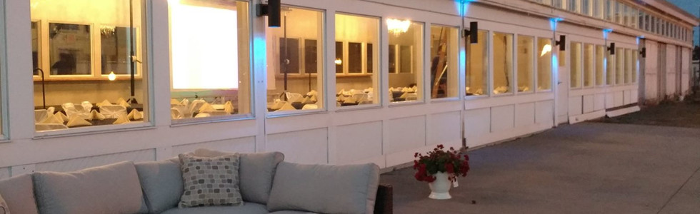 evening outside patio