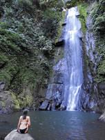 Waterfall hike and swim