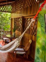 enjoy swinging in a hammock