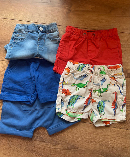 6-9mnths Mixed Design Shorts
