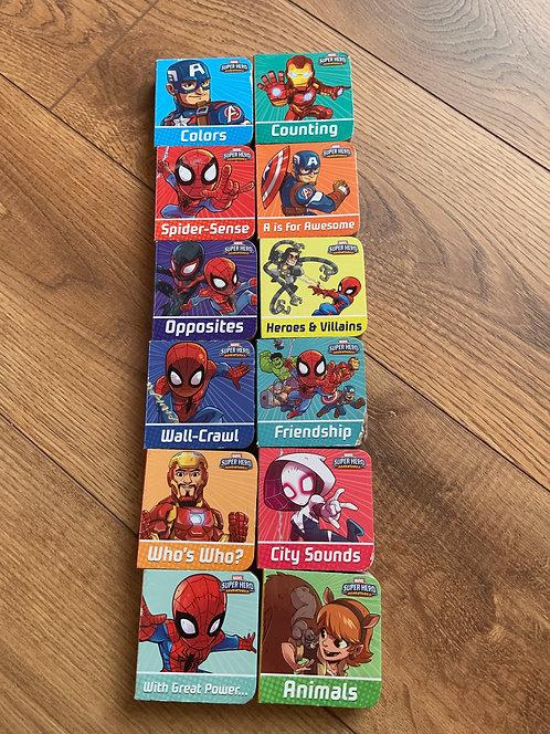 12 SpiderHero Card Books