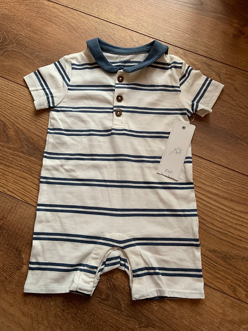 NEW F&F 6-9mnth Sailor Playsuit