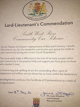 Lord Lieutenant commendation.jpg