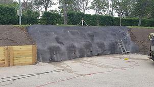 brookfield shotcrete wall backyard finis
