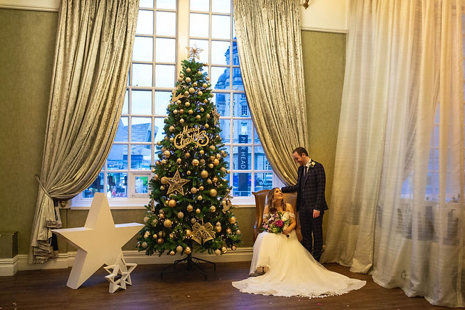 Christmas wedding at 30 james street Liverpool