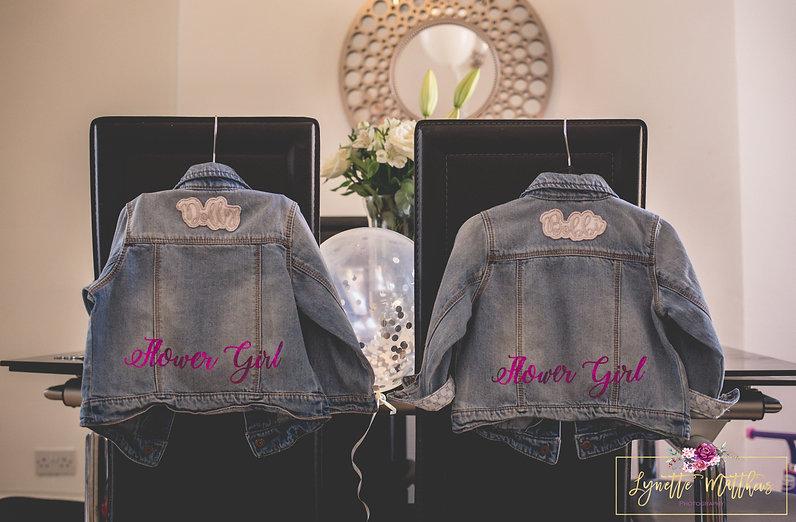 non traditional wedding, personalised jackets, lynette matthews photography