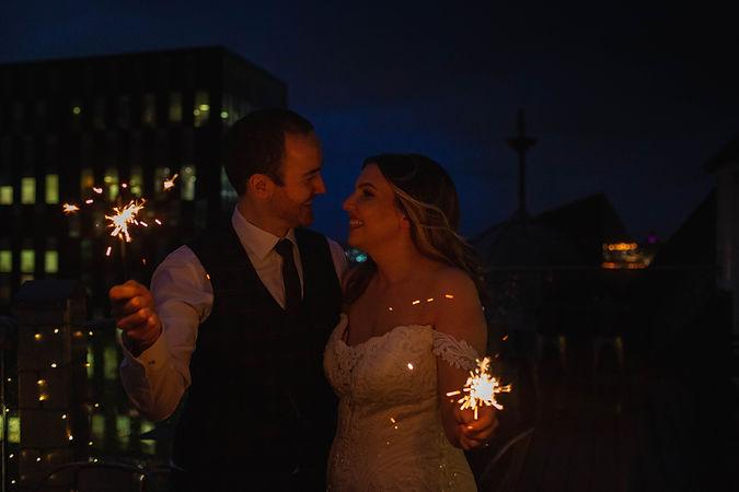 sparklers, winter wedding, 30 james street wedding