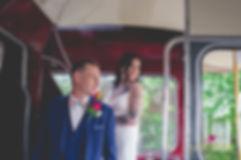 wedding bus, lynette matthews photogaphy