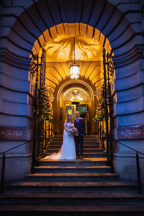 winter wedding, christmas wedding, 30 james street, lynette matthews photography