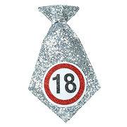 Mini-Geburtstags-Krawatte_18_silber_schw