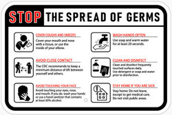 Stop the Spread of Germs - Horizontal