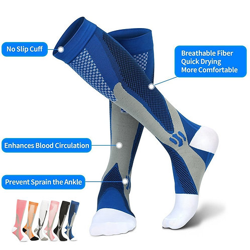Compression Socks - Great for Athletes, Nurses, Yoga & All Kinds of Exercise