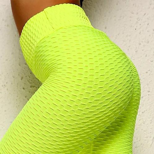 High Waisted, Shape Enhancing Leggings W/ Texture Print, Multiple Sizes & Colors