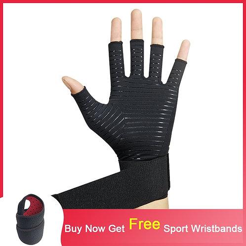 Fingerless Workout / Lifting Gloves With Wrist Wrap - Men's & Women's