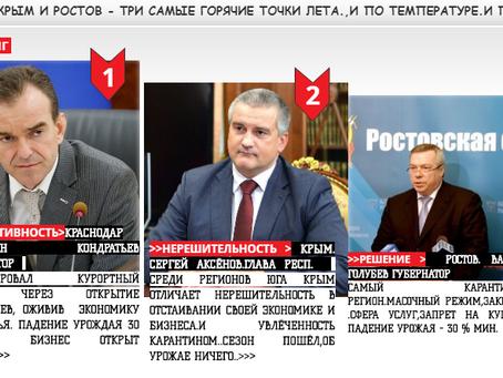 """РЕЙТИНГ ЮГ РФ 2020 №""""ВЛАСТЬ""""ЖНЕЦЫ.."""""""